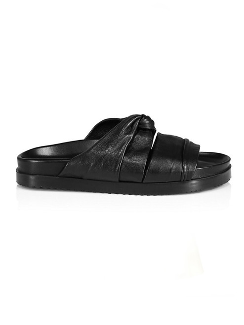 3.1 Phillip Lim Twisted Pool Slide in Black Side View  x1https://cdn11.bigcommerce.com/s-3wu6n/products/33781/images/112203/7__84463.1614823390.244.365.jpg?c=2x2