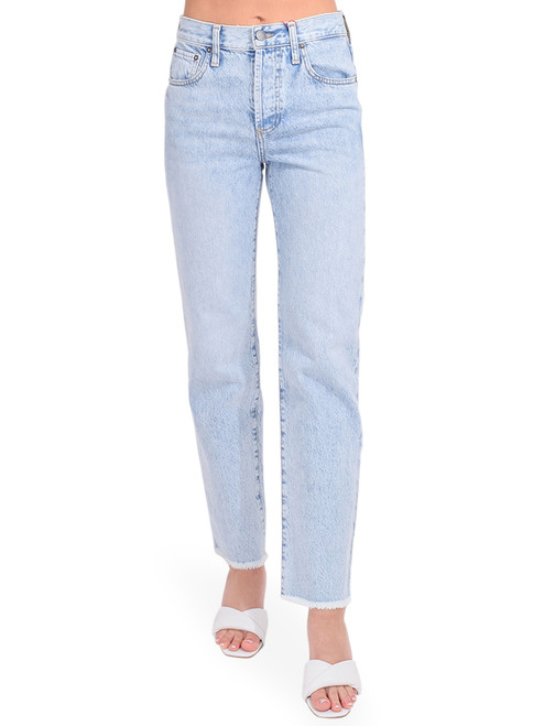 ALICE + OLIVIA Amazing High Rise Boyfriend Jean in Honey Honey Front View  x1https://cdn11.bigcommerce.com/s-3wu6n/products/33808/images/112330/DSC_0896_Full__82413.1616458407.244.365.jpg?c=2x2