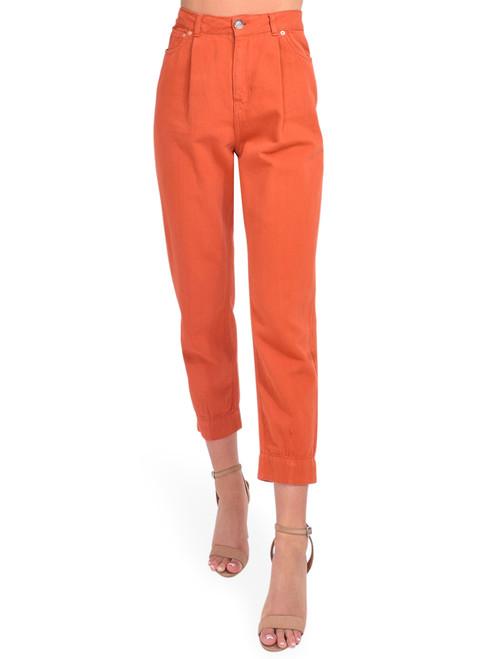 Bellerose Pleaty Jeans in Terracotta Front View  x1https://cdn11.bigcommerce.com/s-3wu6n/products/33902/images/112808/DSC_0536_Full__81705.1618435140__23429.1618869599.244.365.jpg?c=2x2