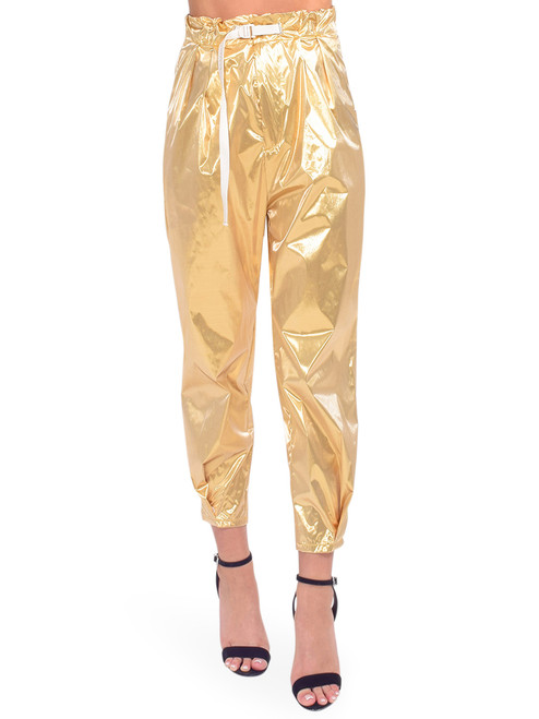 WHITE SAND Metallic Gold Trouser Front View x1https://cdn11.bigcommerce.com/s-3wu6n/products/33931/images/112949/DSC_0375-2_Full__25644.1619034423.244.365.jpg?c=2x2