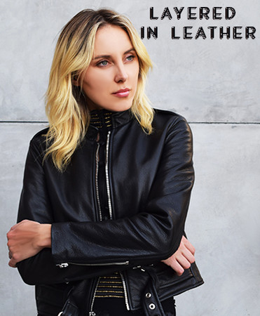 ​LAYERED IN LEATHER