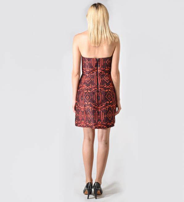 Alice + Olivia Nikki Strapless Brocade Dress