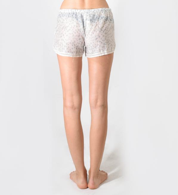 Ottod'Ame Blue Floral Silk Night Shorts