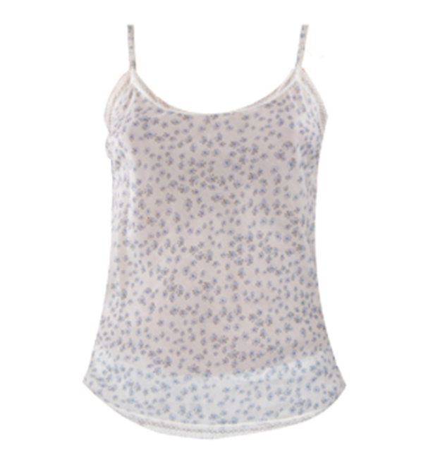 Ottod'Ame Blue Floral Top