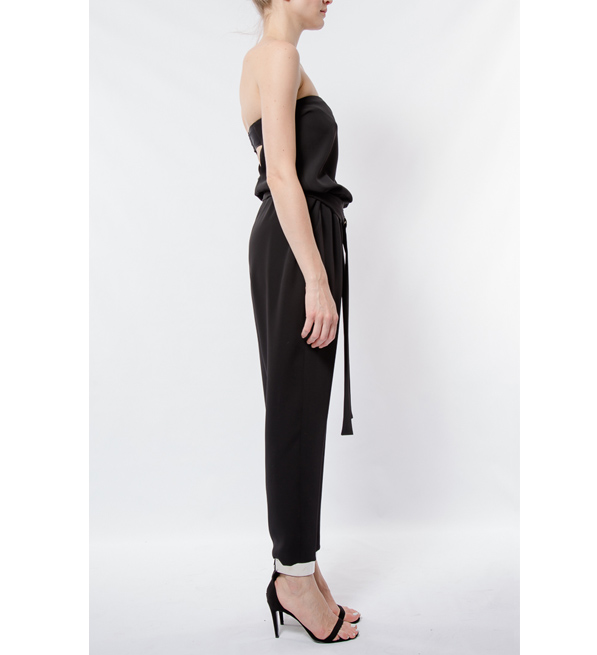 Elizabeth and James Black Strapless Carlisie Jumpsuit