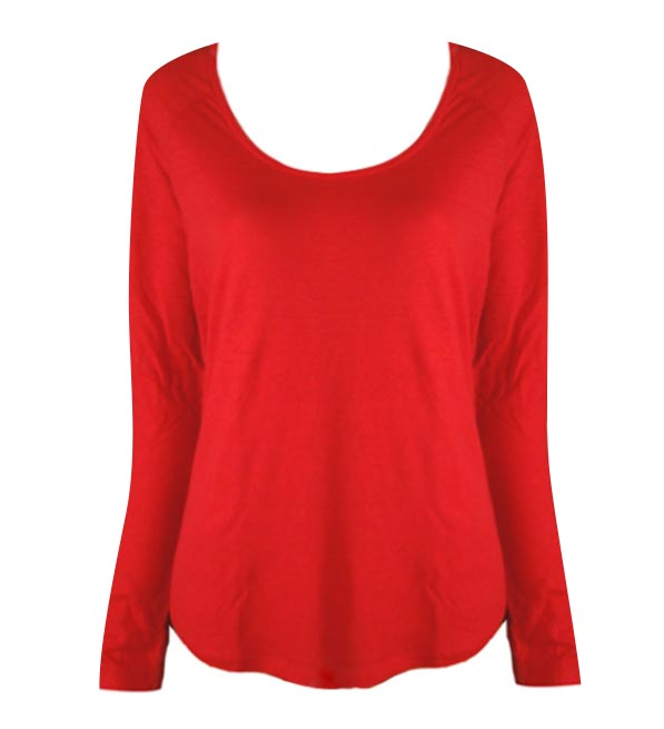 Brochu Walker Scarlet Long Sleeve Lila Tee