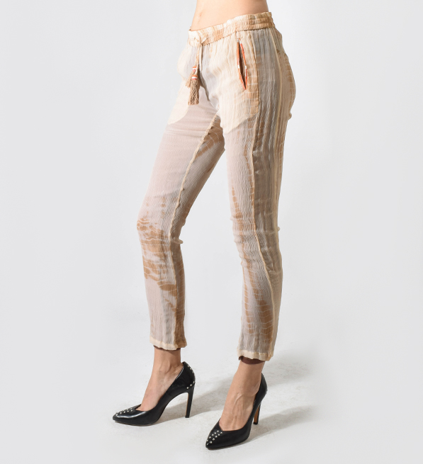 Alphamoment Camel Sheer Pants