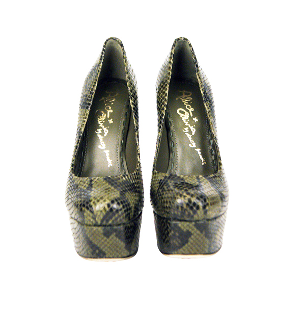 Alice + Olivia Olive Larimore Snake Skin Heel