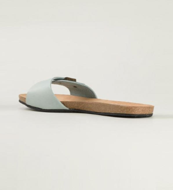 Humanoid Mint Sandals with Buckle