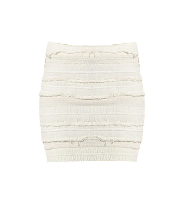 IRO Occeli Jupe Mini Skirt in Ecru