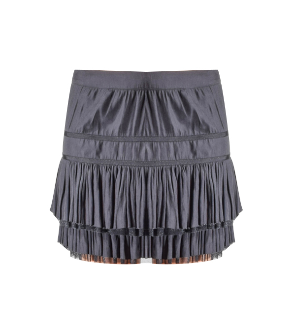Calvin Rucker Black Ruffle Skirt