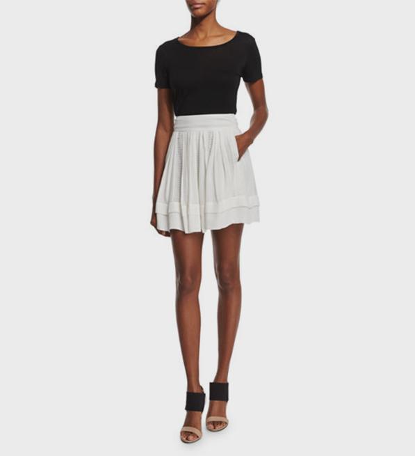 IRO Ginny Skirt in Ecru