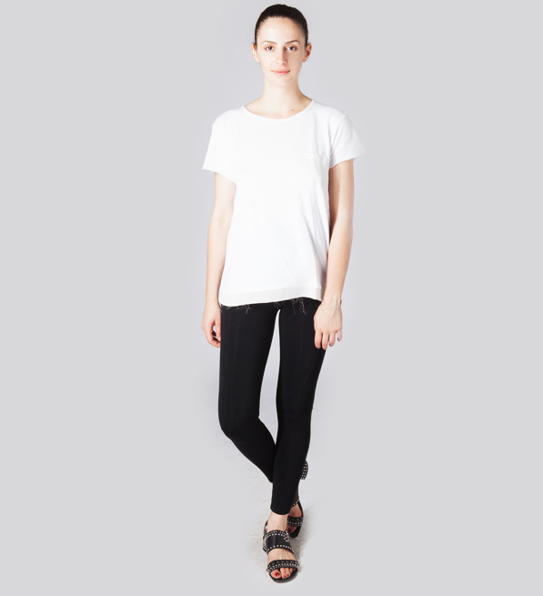Frost Isabelle Tee with Pocket in White
