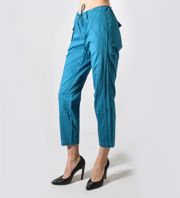 Jordan Louis Green Teal Drawstring Pants