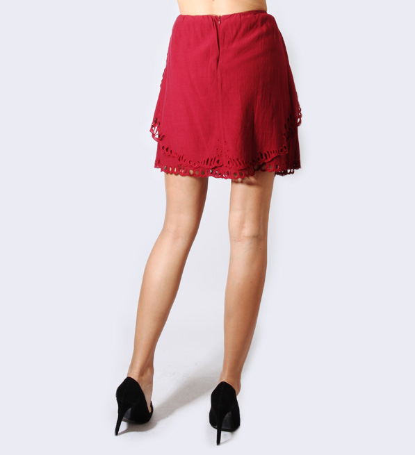 IRO Carina Skirt in Wine
