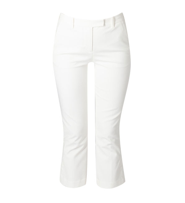 3.1 Phillip Lim Off White Cropped Kick Flare Pants