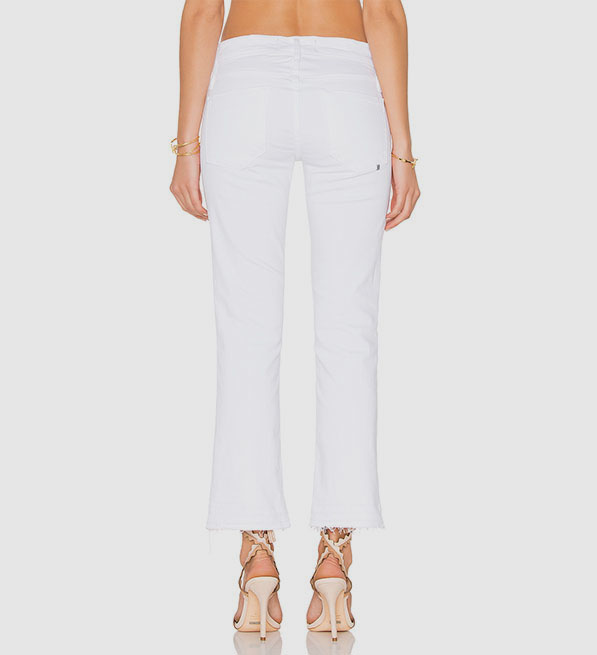 Calvin Rucker Liv 4 Love Cropped Flare in White