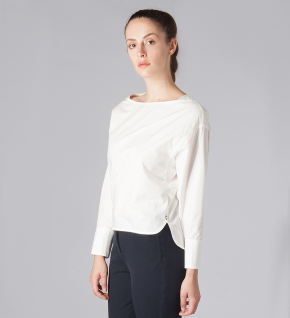 Ottod'Ame Long Sleeve Shirt in White