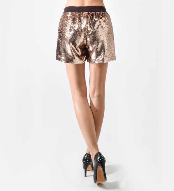 Ottod'Ame Sequin Shorts in Blush