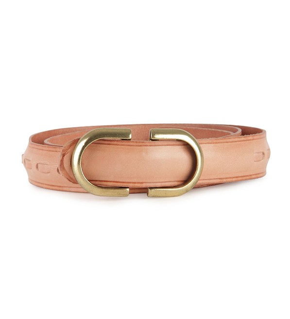 Intropia Leather Belt with Metallic Detail