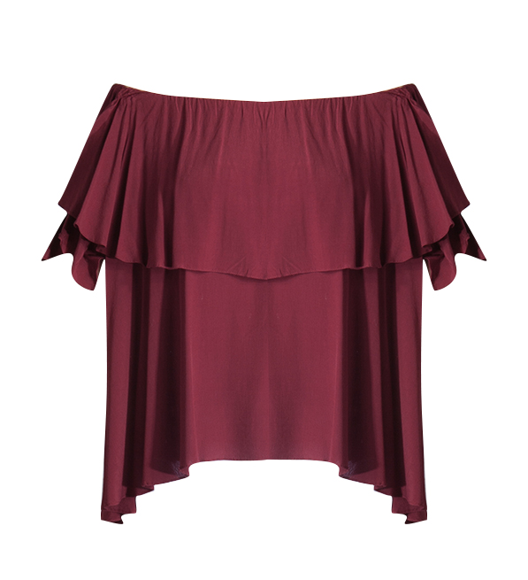MLM Label Maison Off the Shoulder Top in Plum