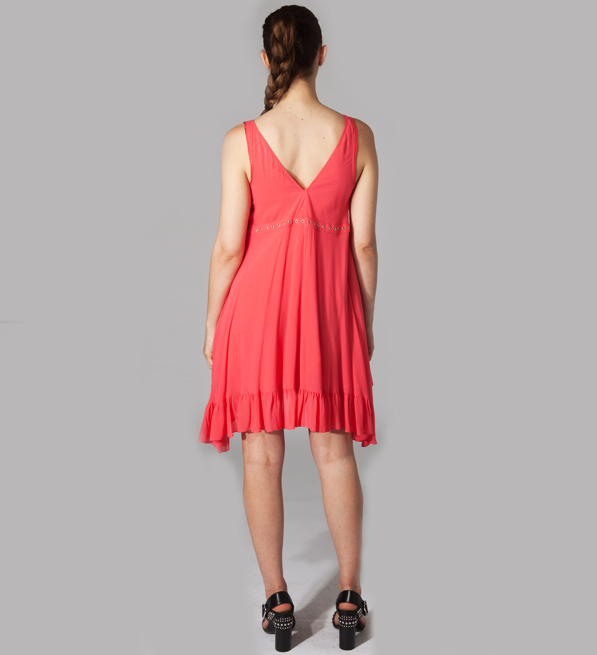 e52d98e48bc IRO Skeeter Dress in Coral Pink
