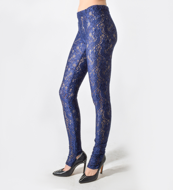 Kova & T Purple Lace Leggings