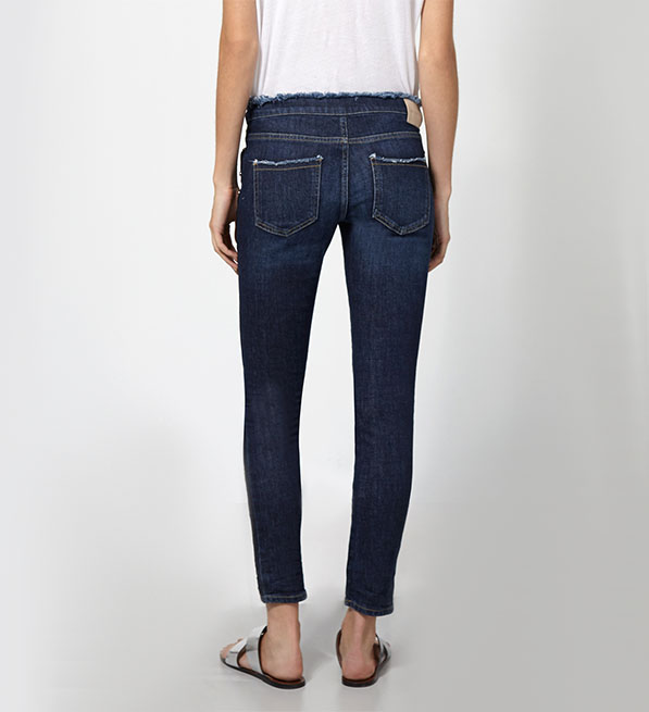 Intropia Frayed Skinny Jeans With Tacks