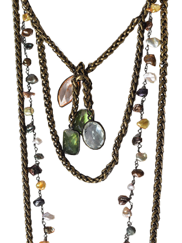 Paula Rosen Vic Loop Necklace