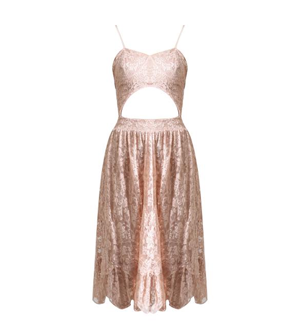 Nightcap Balconette Dress in Petal