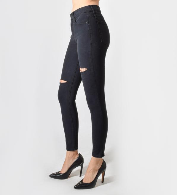 Calvin Rucker Baby I'm Back Skinny Jeans in Black