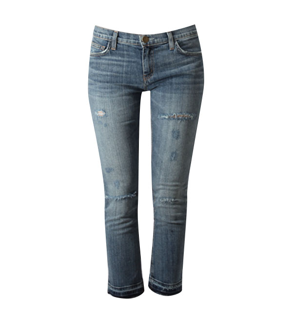 Current/Elliott The Cropped Straight Leg Jean