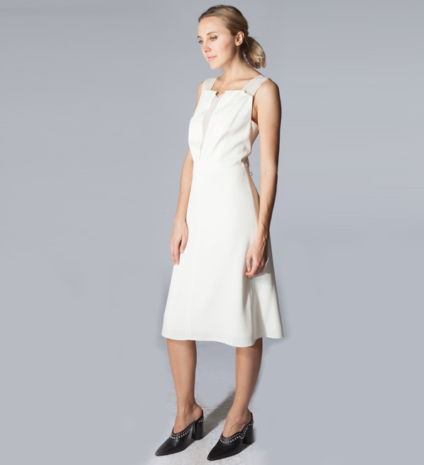 3.1 Phillip Lim Sleeveless A-Line Dress in Ivory