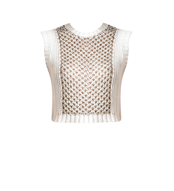 Derek Lam 10 Crosby Sleeveless Cropped Shell