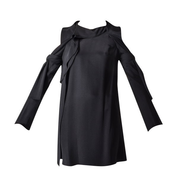 3.1 Phillip Lim Long Sleeve Cold Shoulder Dress in Black