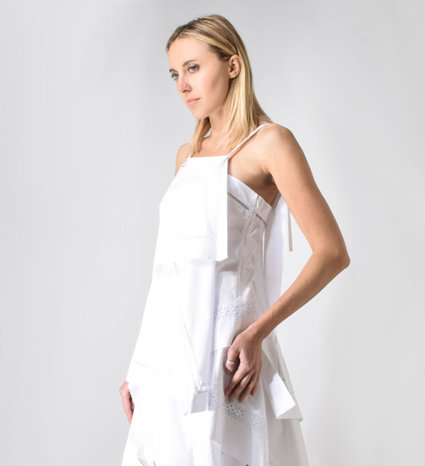 3.1 Phillip Lim Embroidered Handkerchief Camisole Tank in Optic White