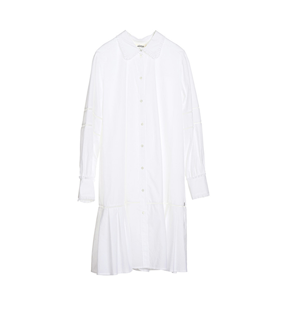 Ottod'Ame Long-Sleeved Cotton Shirt with Micro Fretwork