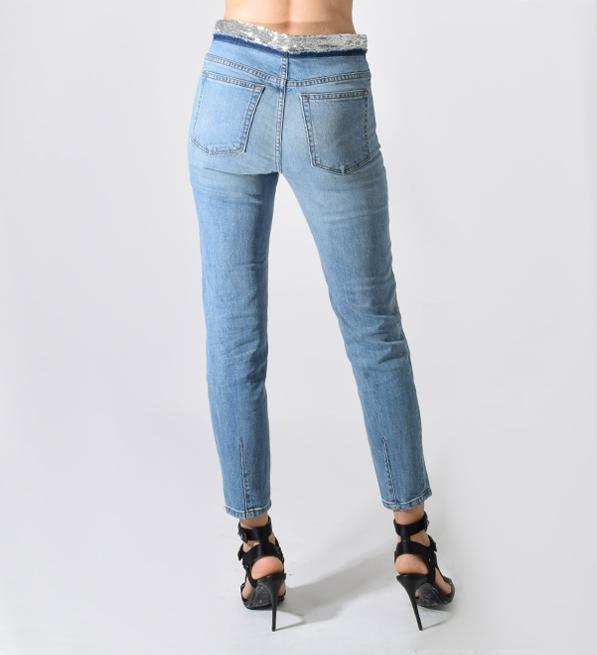 IRO Jones.US Sequin Jean in Light Blue
