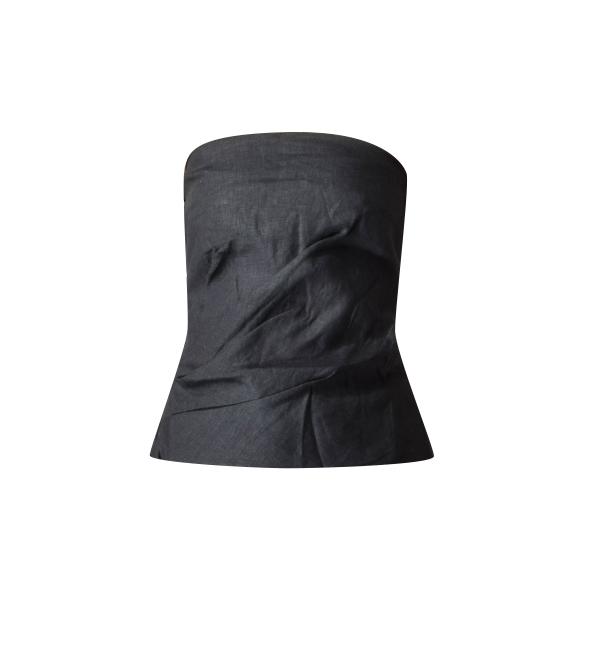MLM Label Nirvana Strapless Wrap Top in Black