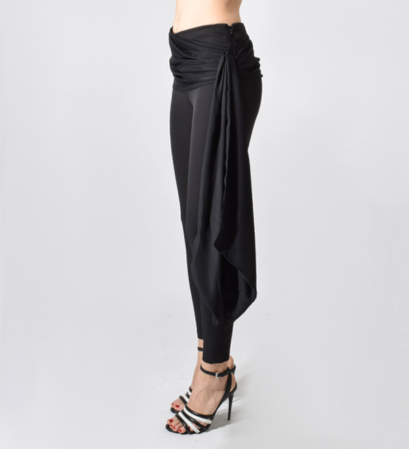 Cinq A Sept Kailah Legging with Front Wrap in Black