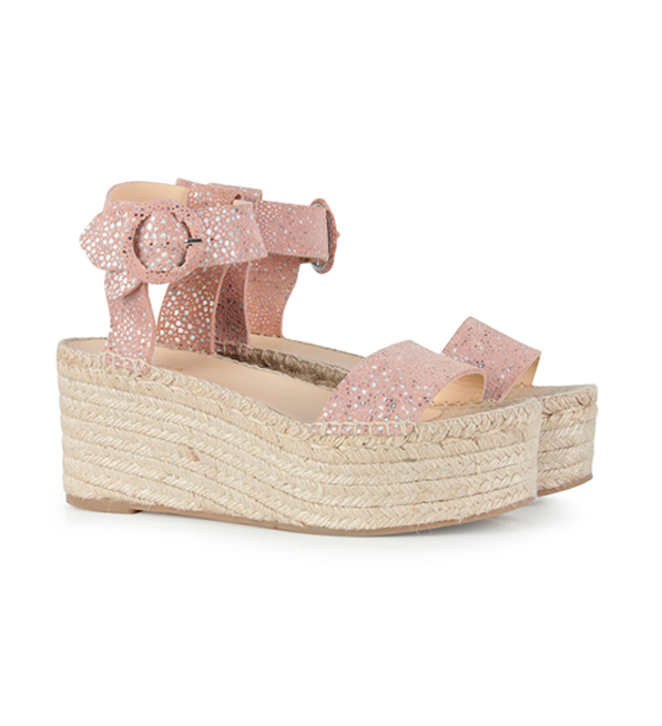 Intropia Mosaic Block Wedge Heel Sandal