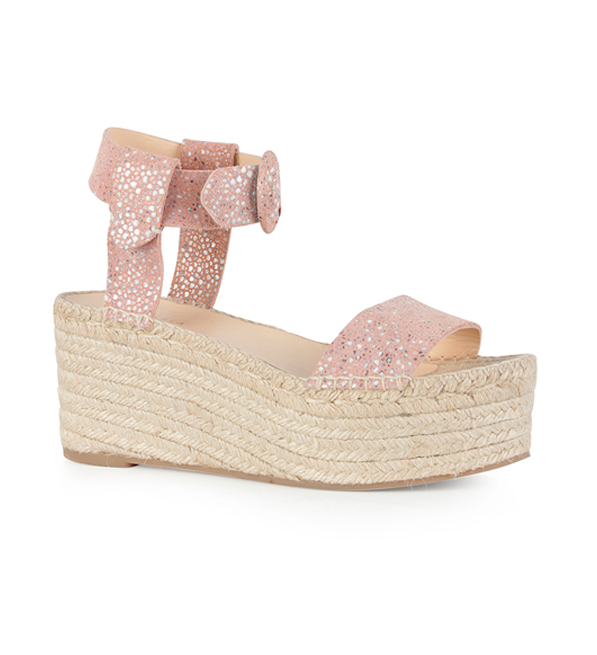 Intropia Mosaic Block Wedge Heel Sandal