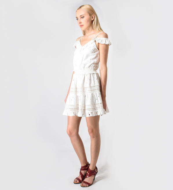 TryB212 Mira Dress in Limestone