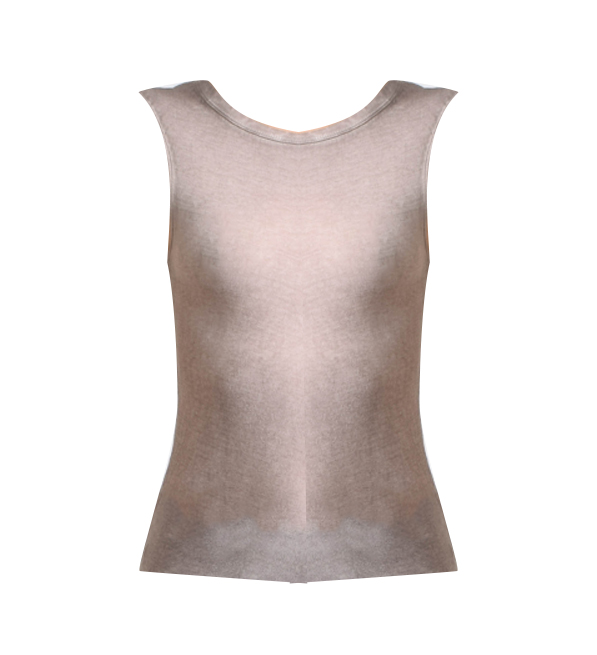 Humanoid Sleeveless T-Shirt in Dust
