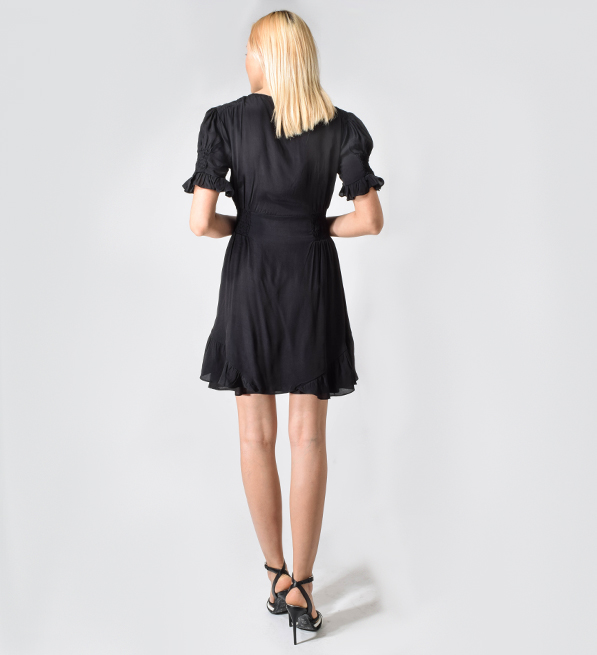 Love Sam Princess Mini Dress in Onyx