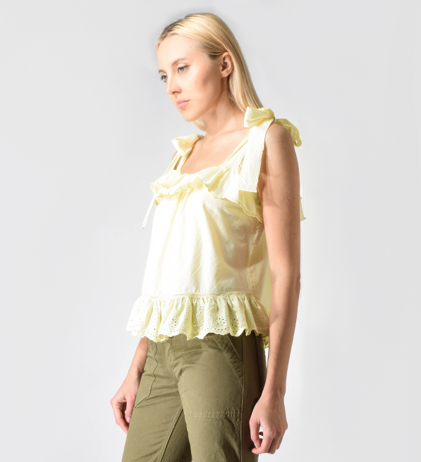 Love Sam Rosa Exelit Top in Lemon Yellow