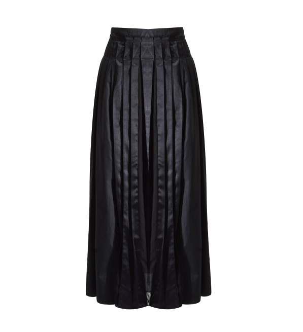 3.1 Phillip Lim Pleated Poplin Skirt in Black
