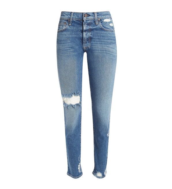 Alice + Olivia Amazing High Rise Girlfriend Slim Jeans