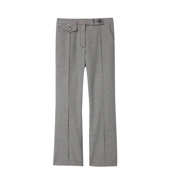 Derek Lam 10 Crosby Cropped Flare Trouser With Tab Details