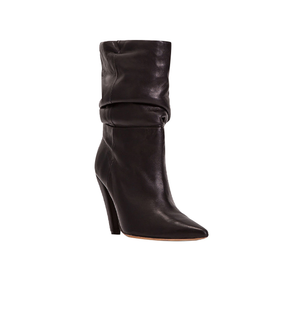 IRO Bergula Leather Ankle Boots in Black